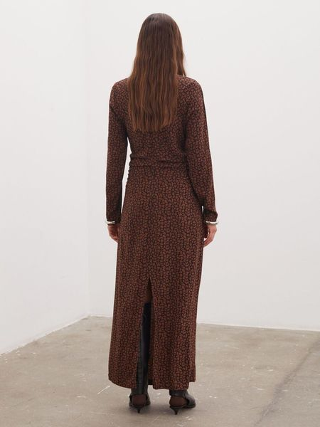 By Malene Birger Ellasso Printed Maxi Dress - BLACK