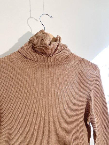 ICHI ANTIQUITES Rib Knit Turtleneck Pullover