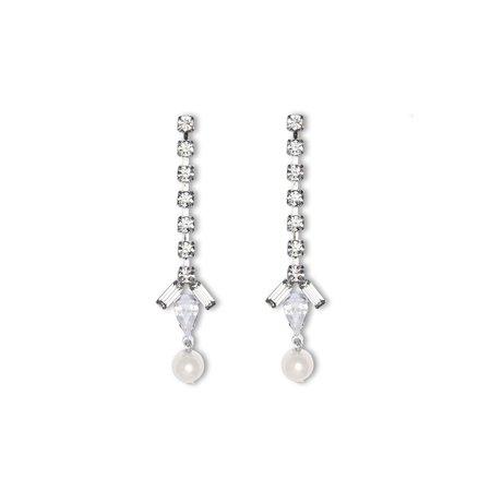 Joomi Lim Crystal Earrings W/ Pearls