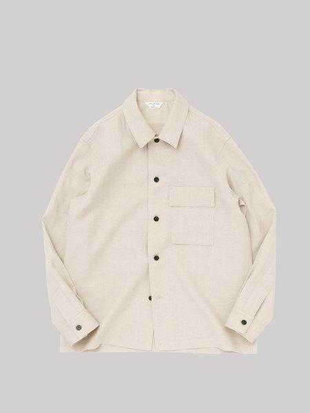 Still By Hand Flap Pocket Relaxed Shirt - Ecru