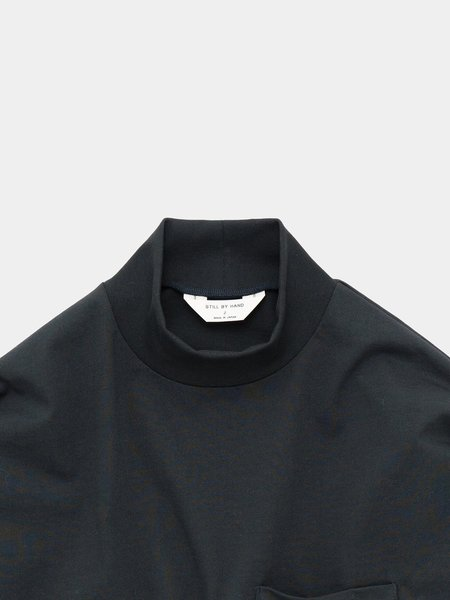 Still By Hand High Neck Long Sleeve - Ink Black