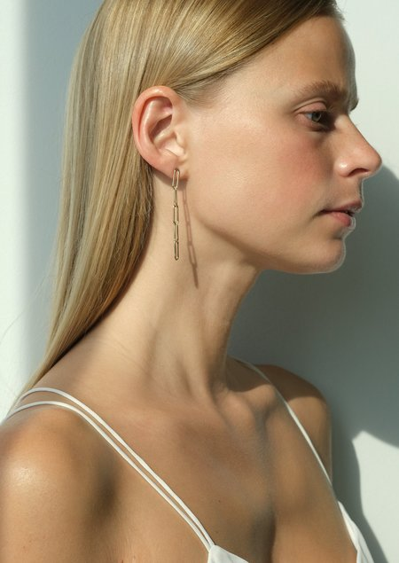 DRESS ARTICLES Stacia Five Link Earring - 14kt gold-filled