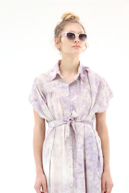 Anntian Silk Sleeveless Dress Print M