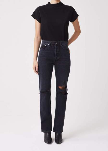 AGOLDE Lana Mid Rise Straight Jeans