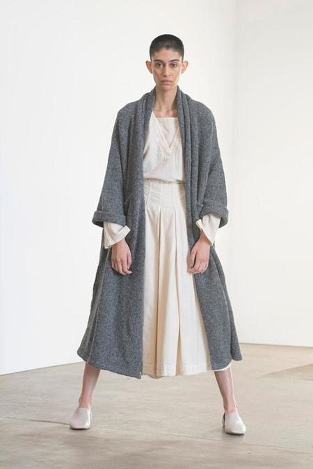 Atelier Delphine Haori Extra Long Coat - Charcoal