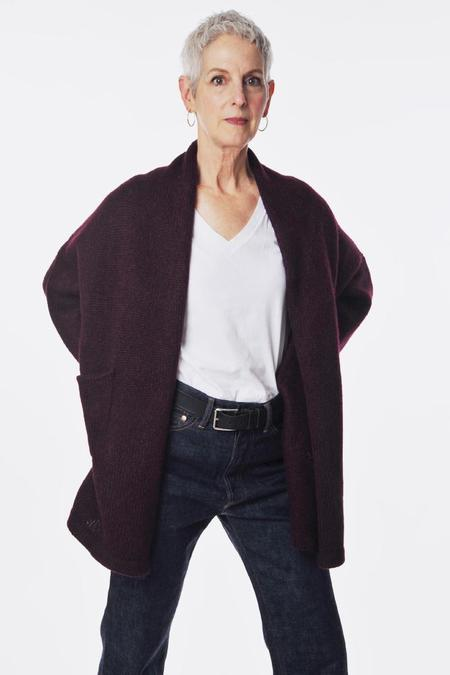 Atelier Delphine Haori Coat - Mulberry