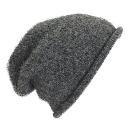 unisex Megan Huntz Essential Knit Alpaca Beanie - Charcoal