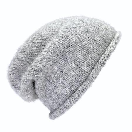 unisex Megan Huntz Essential Knit Alpaca Beanie - Gray