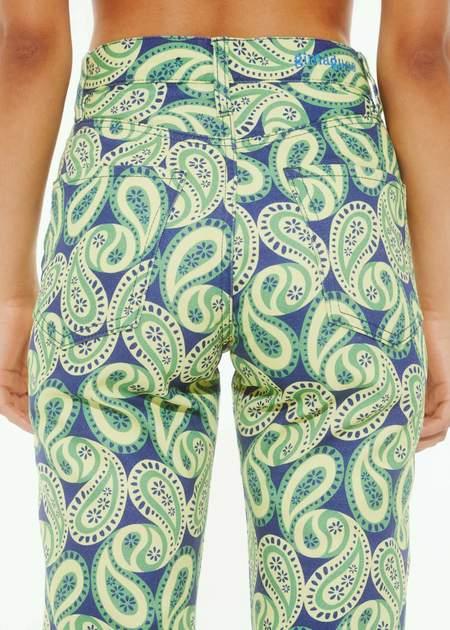 Gimagua Paisley Denim Trousers - Blue/Yellow Paisley