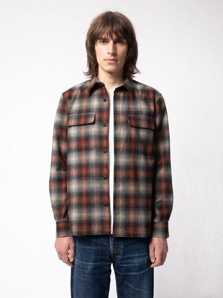 Nudie Jeans Sten Shadow Check Wool jacket - Poppy Red