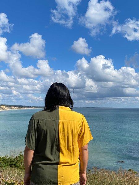 Conrado Nicole Two-Tone Shirt - Yellow/Green