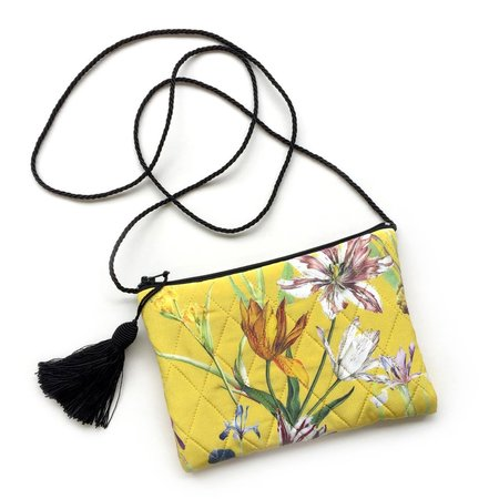 Strathcona Yellow Tulip Garden Little Silk Purse