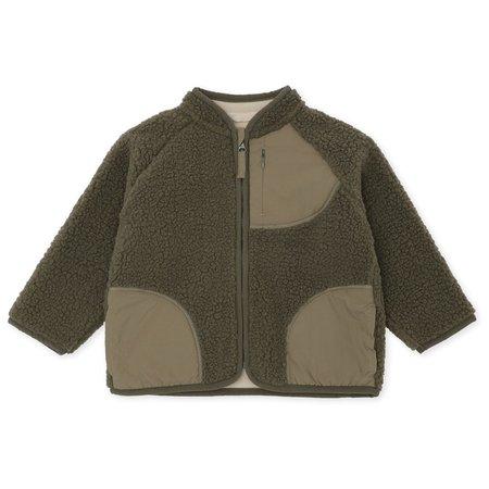 KIDS Konges Teddy Fleece Jacket - Brindle Green