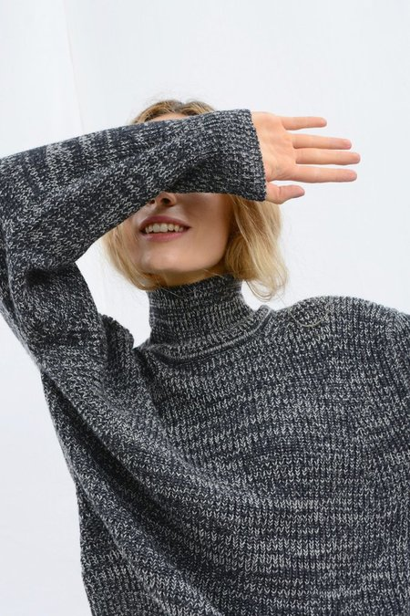 Micaela Greg Shae Sweater - Melange Black