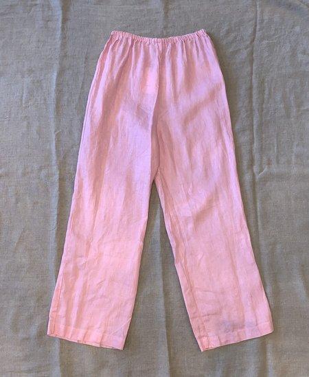 Fog Linen Work 100% Linen Pants - Pink