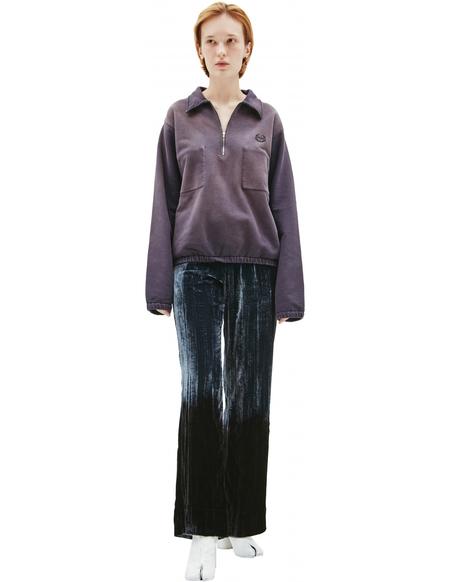 Maison Margiela Zippered collar sweatshirt - Purple
