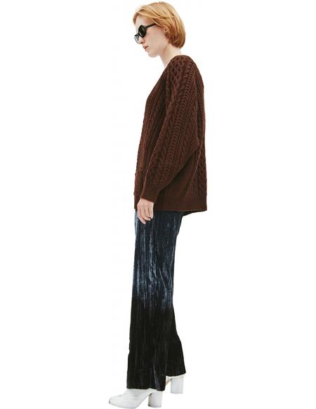 Maison Margiela Chunky-knit wool cardigan - Brown