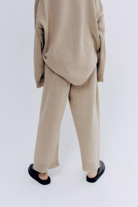 Monica Cordera Baby Alpaca Pants - Pale Olive