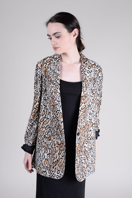 Raquel Allegra Shawl Blazer - Classic Leopard