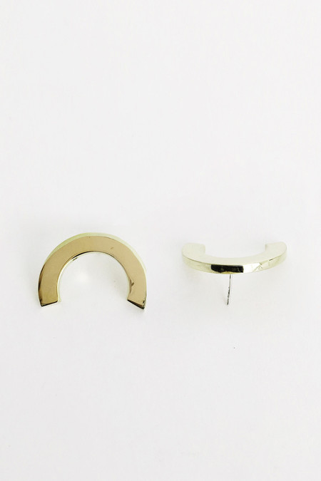 The Things We Keep Barbican Earrings in Brass