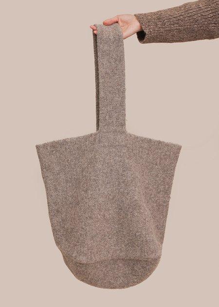 Lauren Manoogian Knit Bucket Bag - Grey