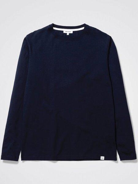 Norse Projects Niels Standard Long Sleeve T-Shirt - Dark Navy