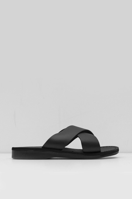 unisex Jerusalem Sandals Leather Elan Sandal - black