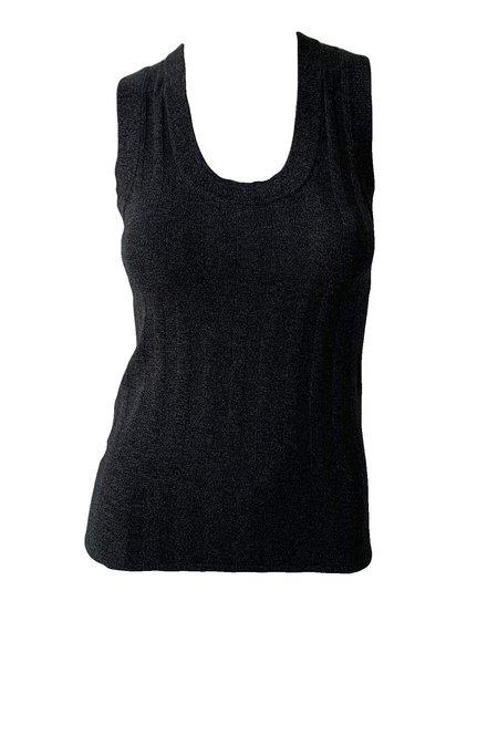 Naadam Marled Silk Cashmere Tank - Black