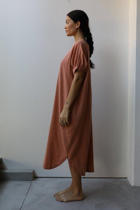at Dawn. Boatneck Relax Long Dress - Slate Navy/Natural