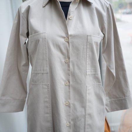 Conrado Esme Long Work Jacket - Beige Twill
