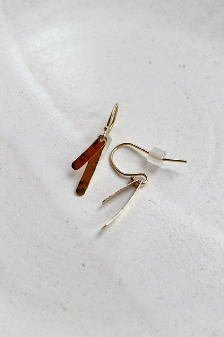 Cobamae Small Baguette Earrings - 14k Gold