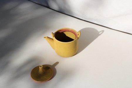 Vintage Handle Teapot - yellow