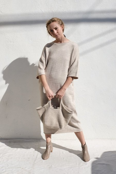 Lauren Manoogian Lines Knit Baby Bag - Ecru