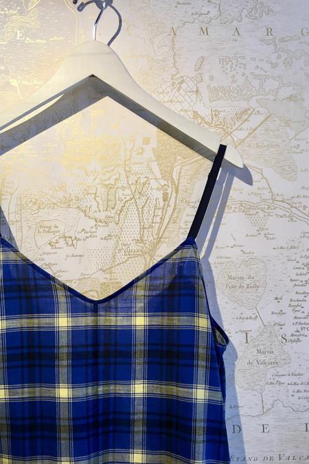 Roseanna Plaid Cotton Mini Jumpsuit