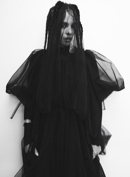 Eliza Faulkner Tulle Madlyn Dress - Black