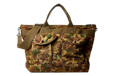 RRL Camo Messenger Bag - Army