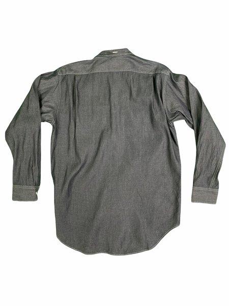 Engineered Garments Banded Collar Shirt - Indigo