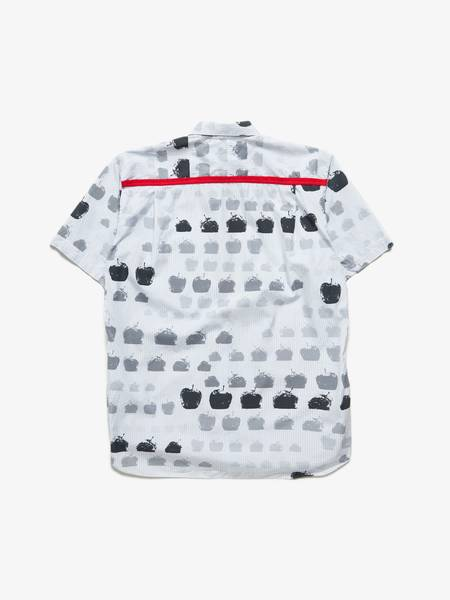 Pre-loved unisex Comme des Garcons Shirt Striped  Apple Printed Shirt - white/Blue