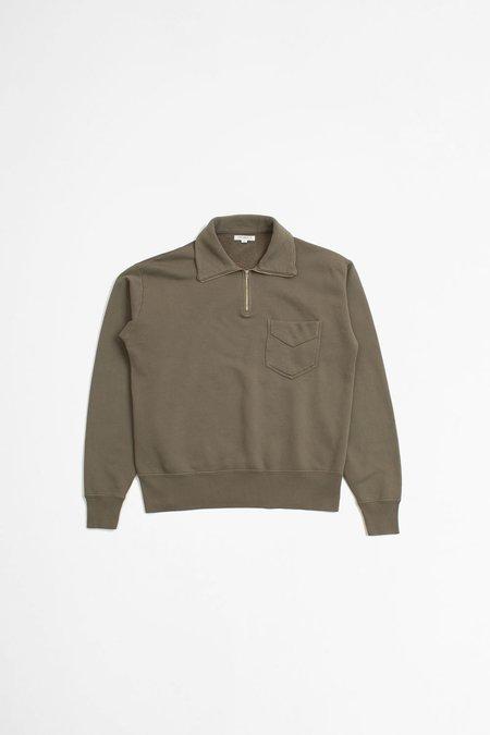 Lady White Co. 1/4 Zip Pocket Sweatshirt - Cement