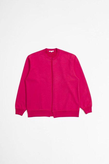 Lady White Co. Split Crewneck Cardigan - Hot Pink