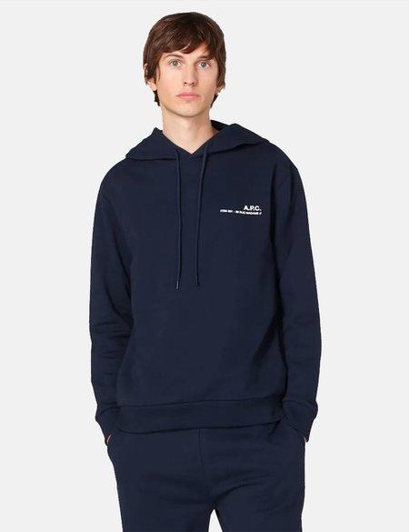 A.P.C. Item Hooded Sweatshirt - Navy Blue