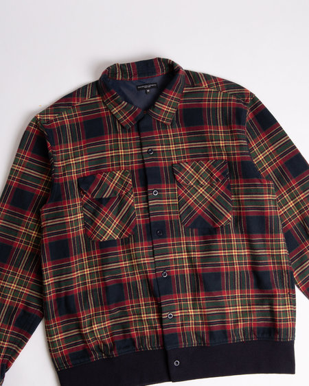 Engineered Garments Classic Shirt - Navy/Green/Red Cotton Plaid