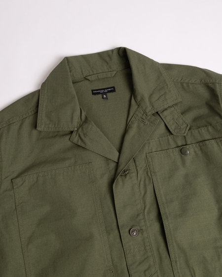 Engineered Garments Fatigue Shirt - Olive Cotton Ripstop