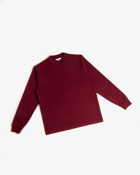 Lady White Co. Long Sleeve Rugby Tee - Maroon