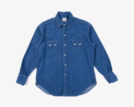 Orslow Denim Western Shirt - blue