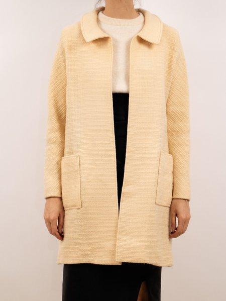 Vintage 1960's pierre cardin overcoat - CREAM