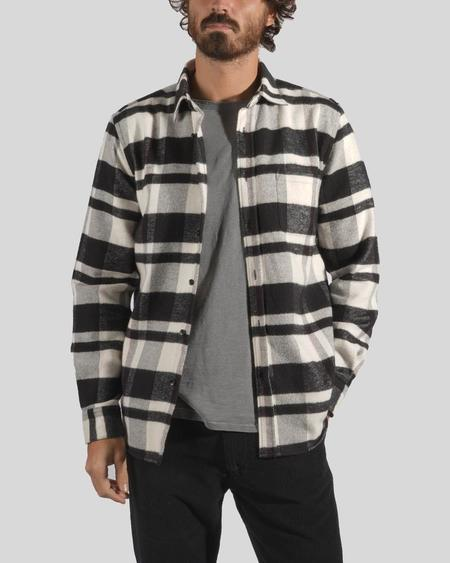 Portuguese Flannel Bonefire Flannel top -  Black/White Check