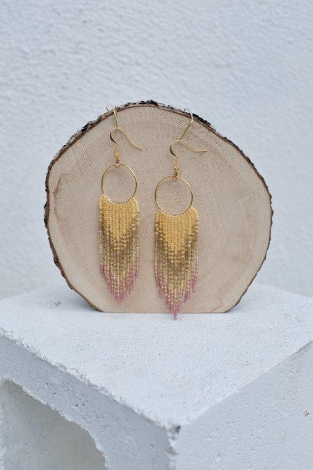 bead n butter Nickys Earrings -  Desert Pink