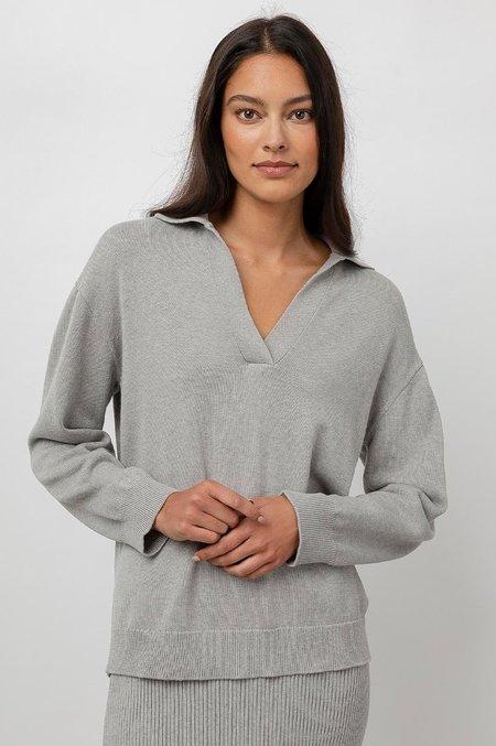 Rails Sutton Polo Sweater - Grey