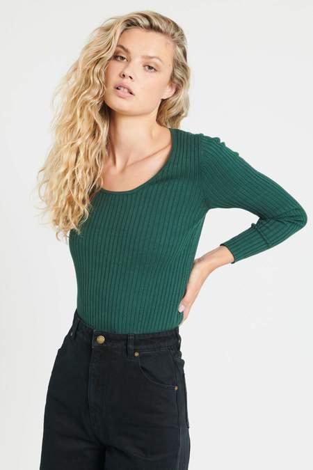 Rollas Rib Sweater - Pine
